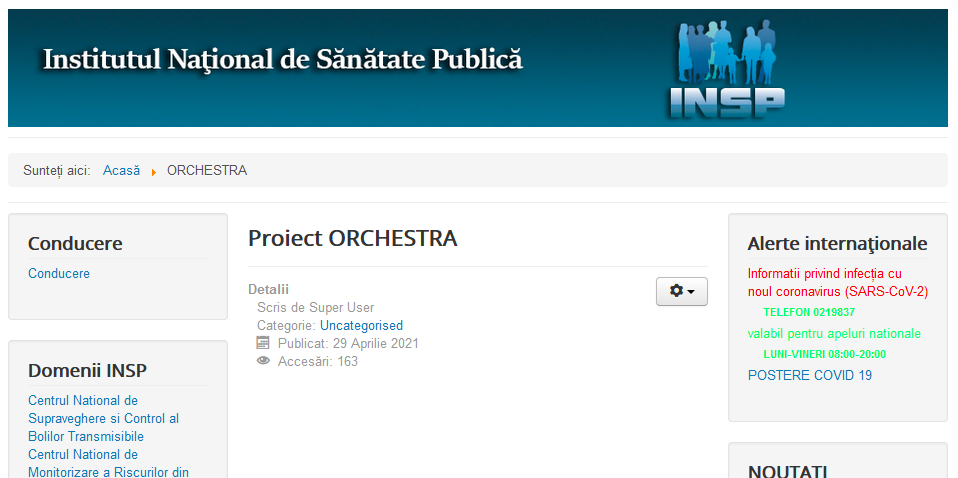 Proiect ORCHESTRA