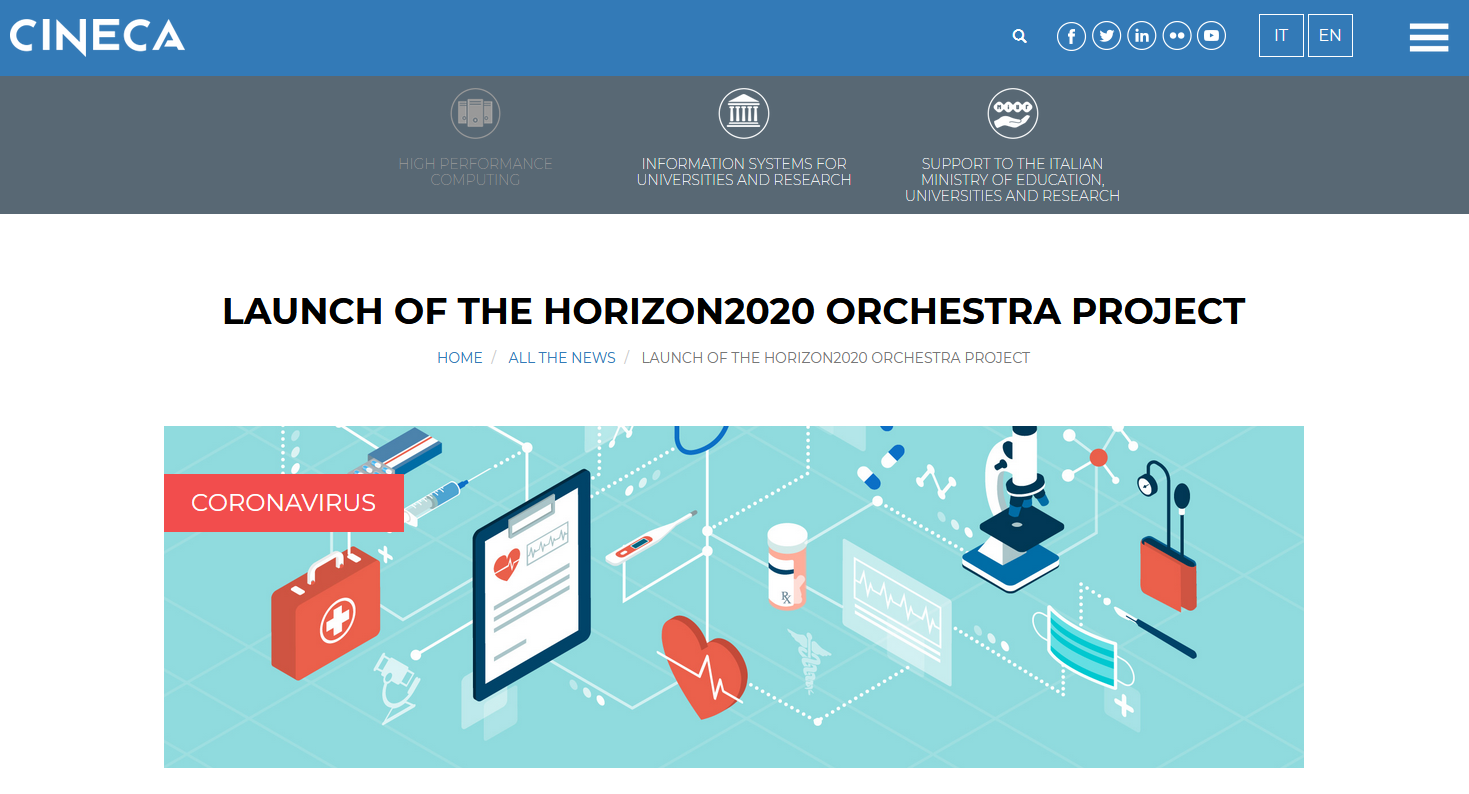 Launch of the Horizon2020 ORCHESTRA project