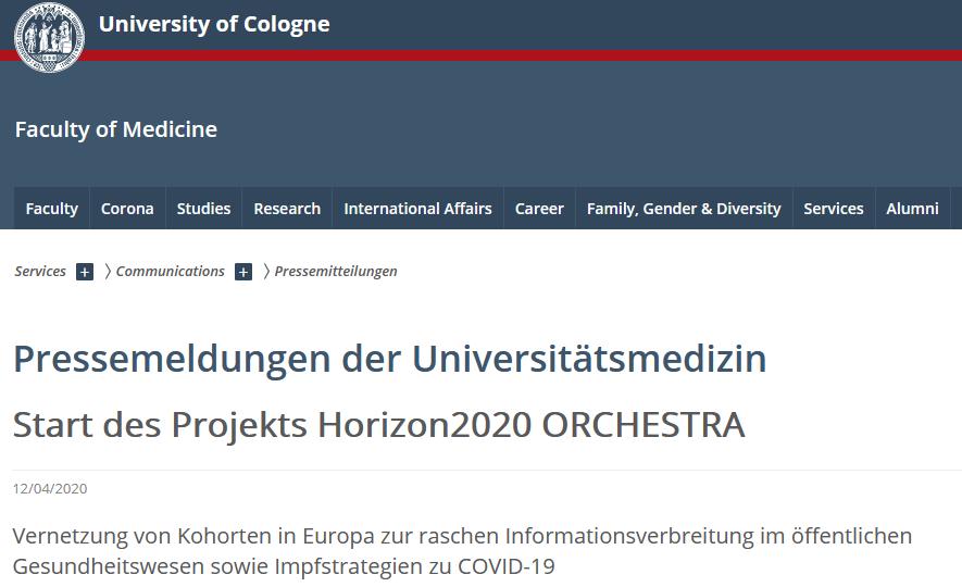 Start des Projekts Horizon2020 ORCHESTRA